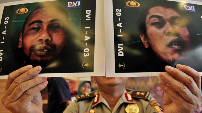 Foto terduga teroris Sukoharjo, Sigit Qurdowi (kanan) & Hendro Yunianto