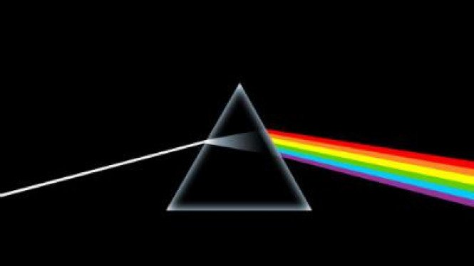 "Sampul ""The Dark Side of the Moon"""