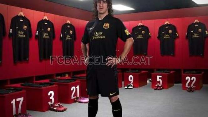 Seragam tandang Barcelona musim 2011/2012