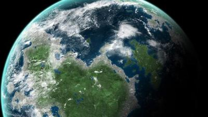 Ilustrasi planet Gliese 581d