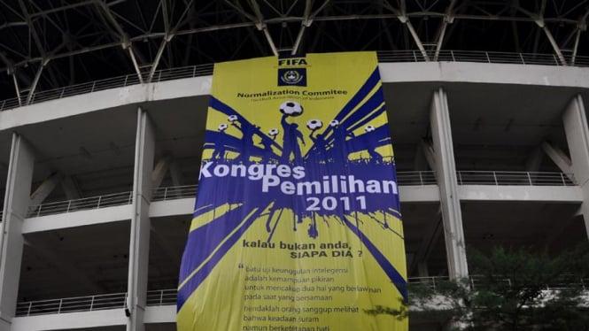 Spanduk Jelang Kongres PSSI
