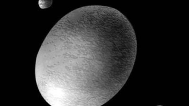 Haumea, planet lonjong berlapis es