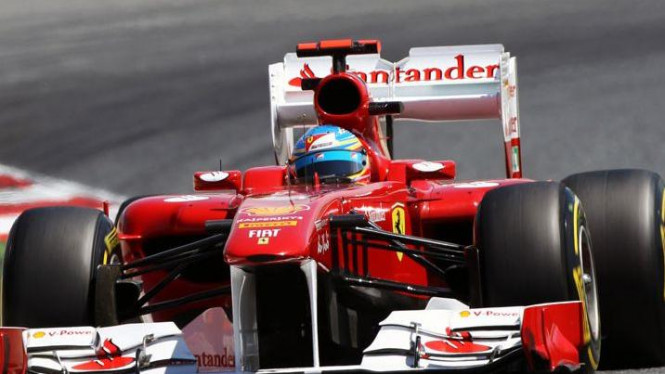 Sayap belakang Ferrari