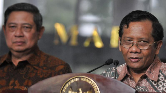 Presiden Susilo Bambang Yudhoyono dan Mahfud MD