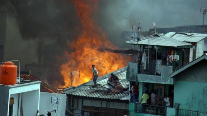 Kebakaran di Tambora