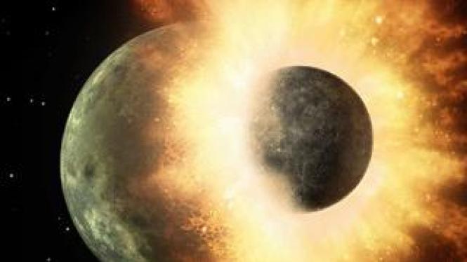 Giant Impact, teori bagaimana terbentuknya Bulan