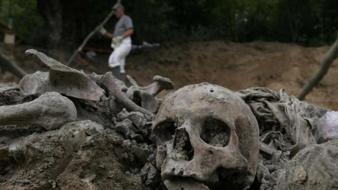 Ilustrasi/Kuburan pembantaian massal