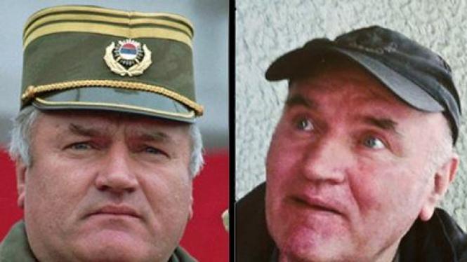 Ratko Mladic, jenderal pembantai Muslim Bosnia.