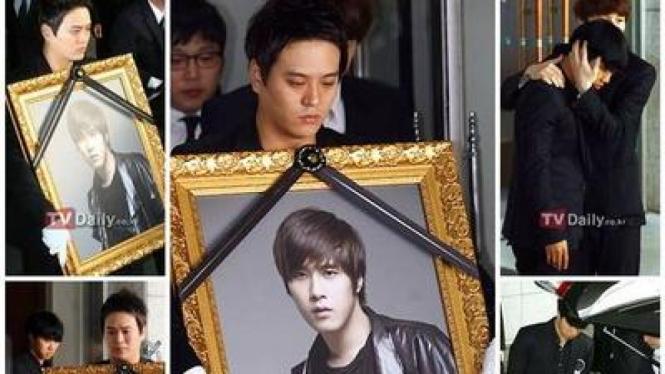 Sejumlah selebriti Korea Hadiri pemakaman Chae Dong Ha