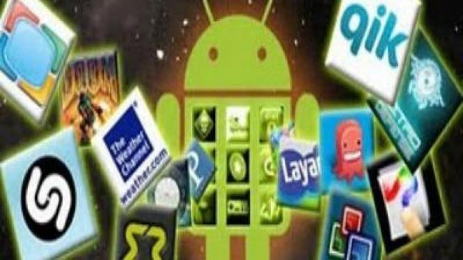 Ilustrasi aplikasi Android.