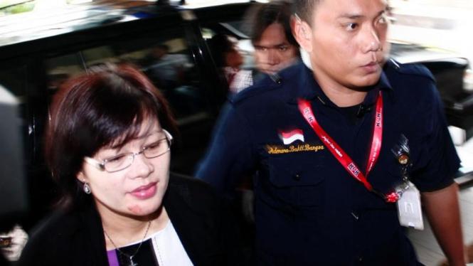 Mindo Rosalina Manurung di KPK