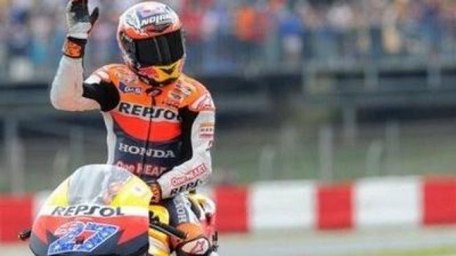 Casey Stoner di MotoGP Inggris