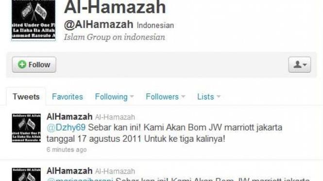 Akun Twitter Al Hamazah