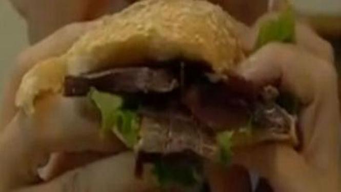 Burger kotoran Manusia