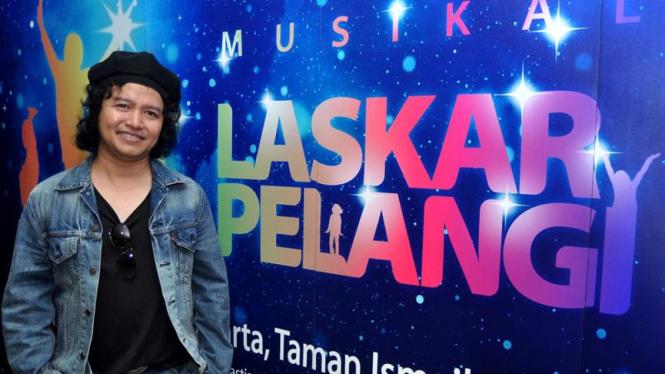 Andrea Hirata usai jumpa pers Musikal Laskar Pelangi Sesi II