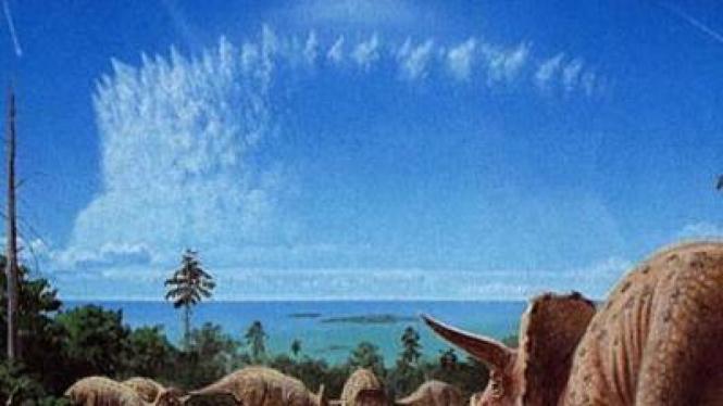 Meteor penyebab mass extinction, fenomena musnahnya dinosaurus.