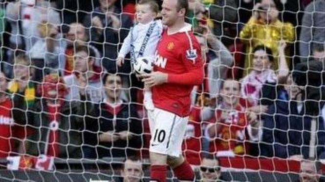 Wayne Rooney dan putranya, Kai