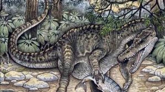 Dinosaurus vertebrata pemangsa ikan