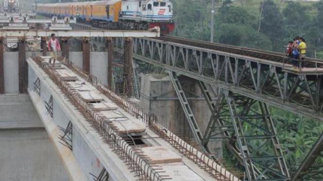 Pembangunan jalur ganda kereta Serpong-Maja