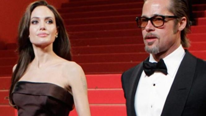 Angelina Jolie dan Brad Pitt Cannes