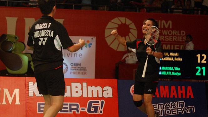 Vita Marissa dan Nadya Melati,  Djarum Indonesia Open Super Series Premier 2011