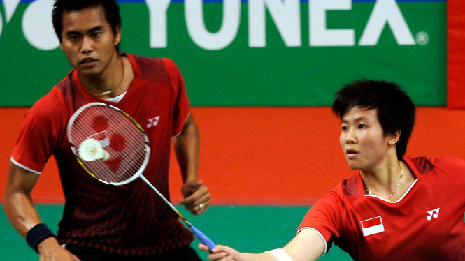 Tontowi Ahmad (kiri) & Liliyana Natsir