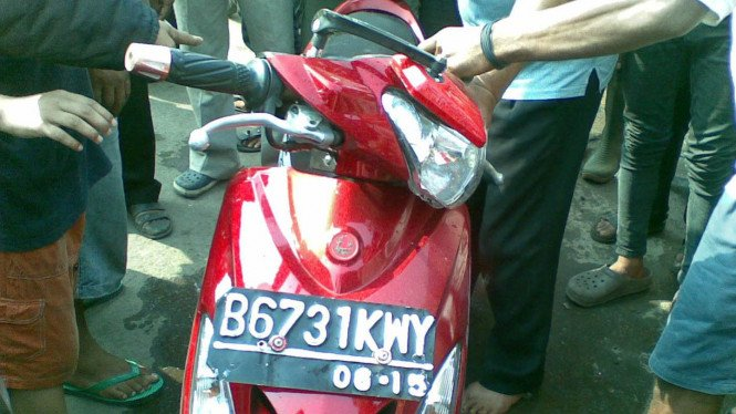 Motor penjambret di Pondok Kopi, Jakarta Timur