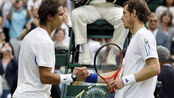 Rafael Nadal (kiri) dan Andy Murray