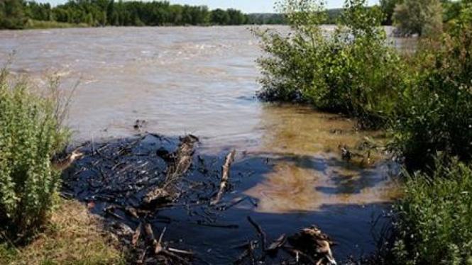 Sungai Yellowstone tercemar minyak milik Exxonmobil.