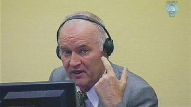 Ratko Mladic di Mahkamah Kriminal Internasional