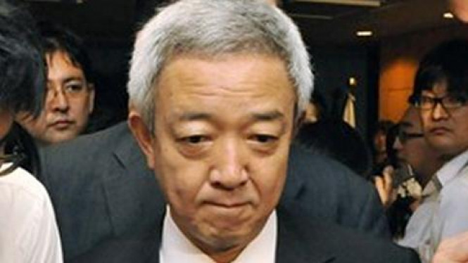 Menteri rekonstruksi Jepang, Ryu Matsumoto.