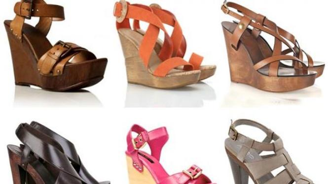 sepatu beralas kayu