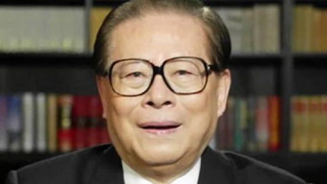 Mantan Presiden China, Jiang Zemin.