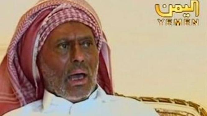 Presiden Yaman, Ali Abdullah Saleh, dalam siaran televisi.
