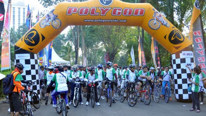 Fun Bike VIVAnews di Hotel Sultan