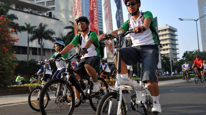 Fun Bike VIVAnews di Hotel Sultan