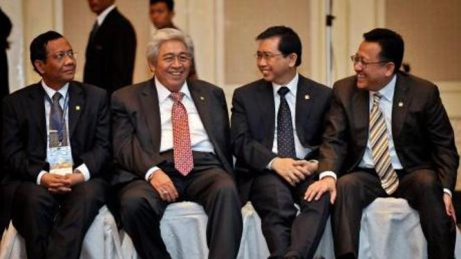 Mahfud MD, Taufiq Kiemas, Marzuki Alie dan Irman Gusman