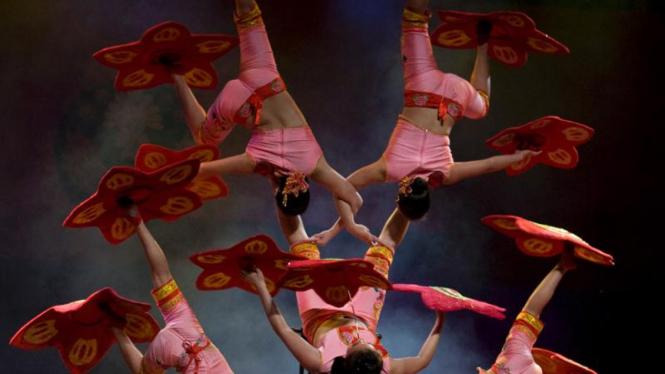 Pertunjukan sirkus di Kolombia