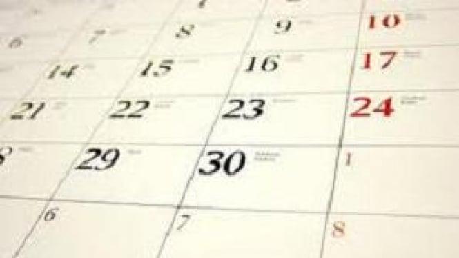 Ilustrasi Kalender.