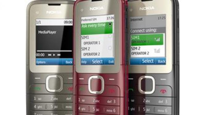 Nokia C2-00, salah satu ponsel dual GSM pertama Nokia