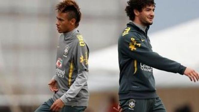 Neymar dan Alexandre Pato