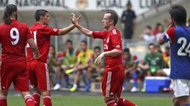 Pemain Liverpool dalam kunjungan ke Malaysia