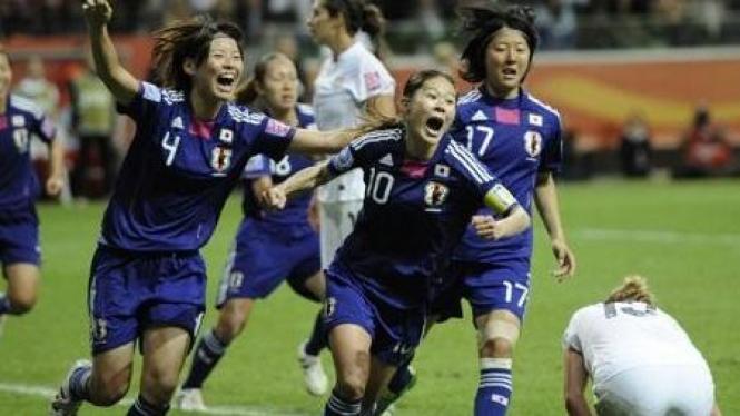 Pemain Jepang di final Piala Dunia Wanita 2011