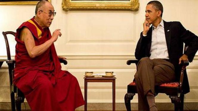Dalai Lama bertemu Barack Obama pada 16 Juli 2011