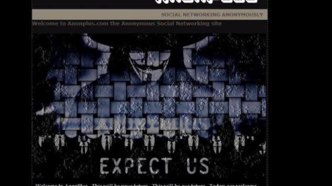 Jejaring Sosial AnonPlus, milik hacktivist Anonymous