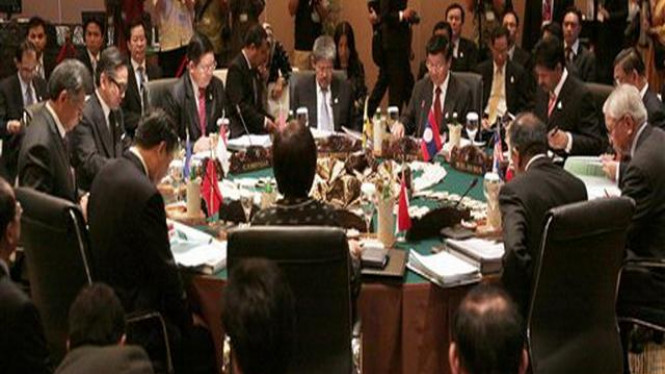 Suasana Konferensi Tingkat Menlu ASEAN di Bali, 19 Juli 2011