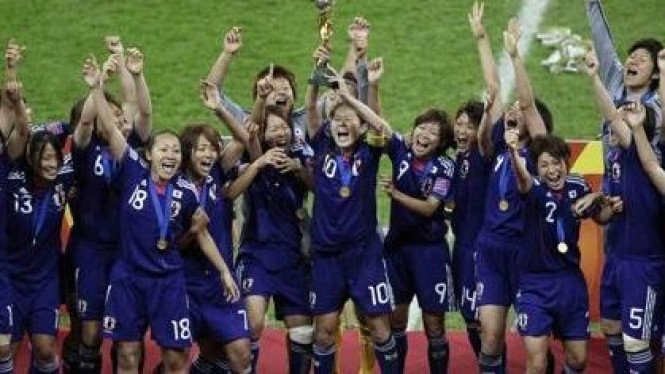 Timnas wanita Jepang juara Piala Dunia