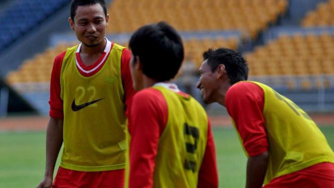 Latihan Terakhir Timnas Jelang Laga Melawan Turkmenistan