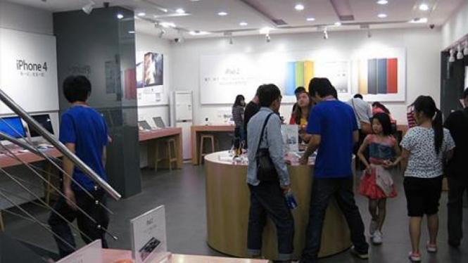 Toko Apple gadungan di Kunming, China.