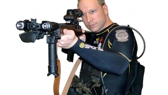 Foto Anders Behring Breivik di Facebook